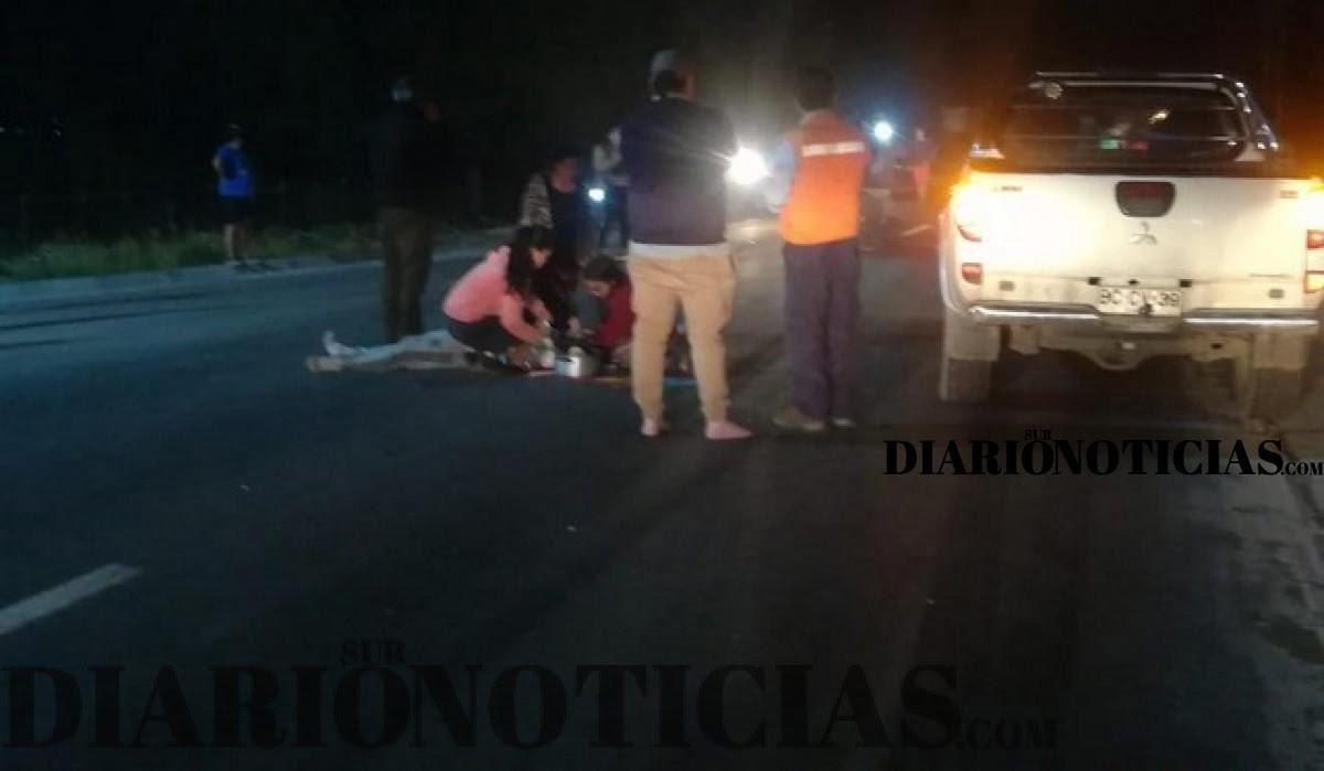 Photo of Conductor se dio a la fuga luego de atropellar a manifestantes en la ruta que une Osorno y Puerto Octay